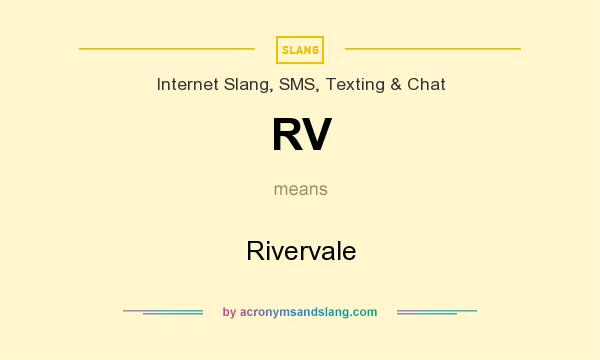 What does RV mean? It stands for Rivervale