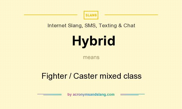 What does Hybrid mean? It stands for Fighter / Caster mixed class