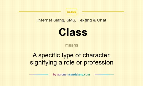 What does Class mean? It stands for A specific type of character, signifying a role or profession