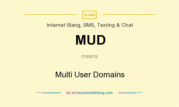 What does MUD mean? It stands for Multi User Domains