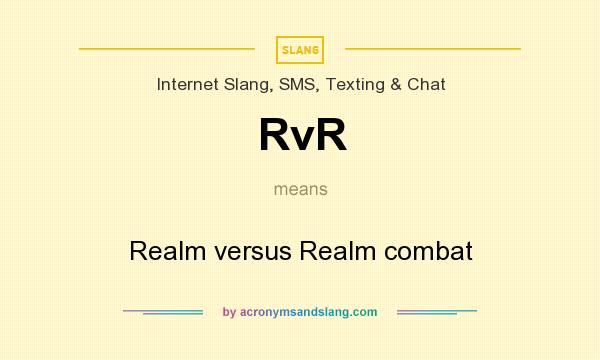 What does RvR mean? It stands for Realm versus Realm combat
