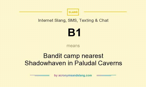 What does B1 mean? It stands for Bandit camp nearest Shadowhaven in Paludal Caverns