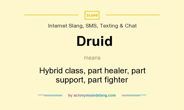 What does Druid mean? It stands for Hybrid class, part healer, part support, part fighter