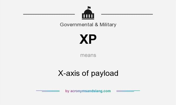 What does XP mean? It stands for X-axis of payload