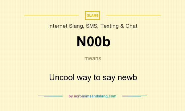 What does N00b mean? It stands for Uncool way to say newb