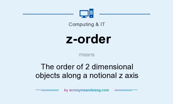 What does z-order mean? It stands for The order of 2 dimensional objects along a notional z axis