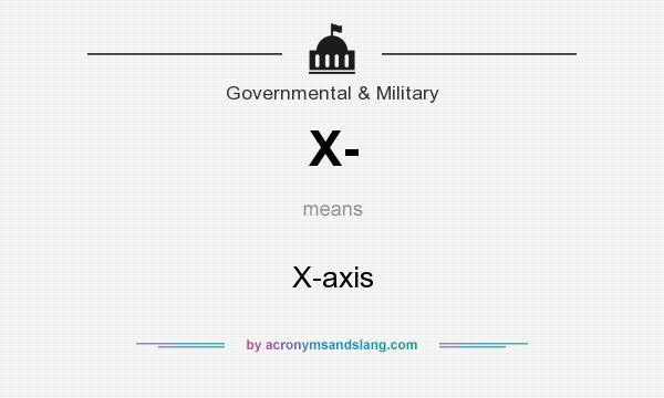 What does X- mean? It stands for X-axis