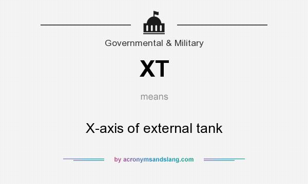 What does XT mean? It stands for X-axis of external tank