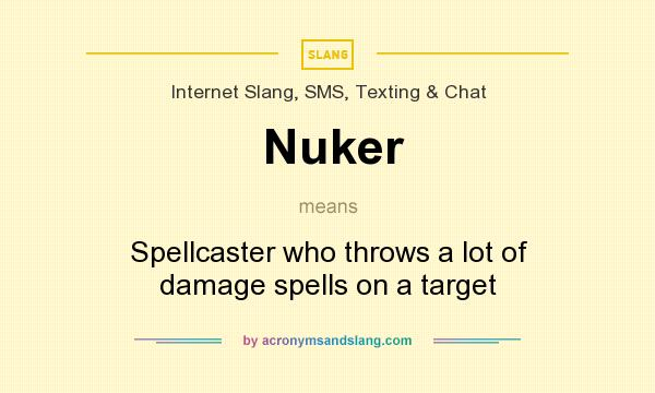 What does Nuker mean? It stands for Spellcaster who throws a lot of damage spells on a target