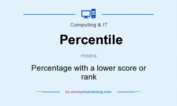 What does Percentile mean? - Definition of Percentile