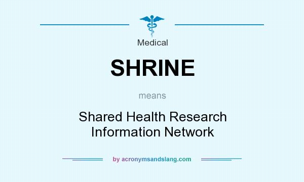 What does SHRINE mean? It stands for Shared Health Research Information Network