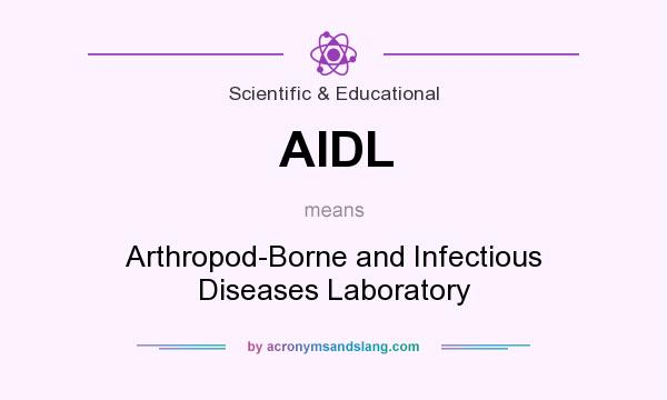 What does AIDL mean? It stands for Arthropod-Borne and Infectious Diseases Laboratory