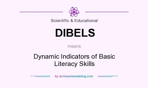 What does DIBELS mean? It stands for Dynamic Indicators of Basic Literacy Skills