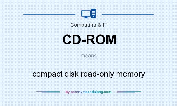 What does CD-ROM mean? It stands for compact disk read-only memory