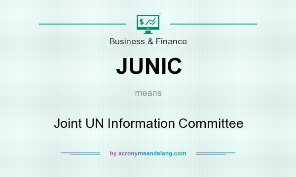 What does JUNIC mean? It stands for Joint UN Information Committee