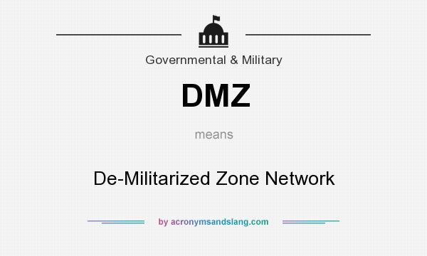 What does DMZ mean? It stands for De-Militarized Zone Network