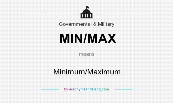 What does MIN/MAX mean? It stands for Minimum/Maximum