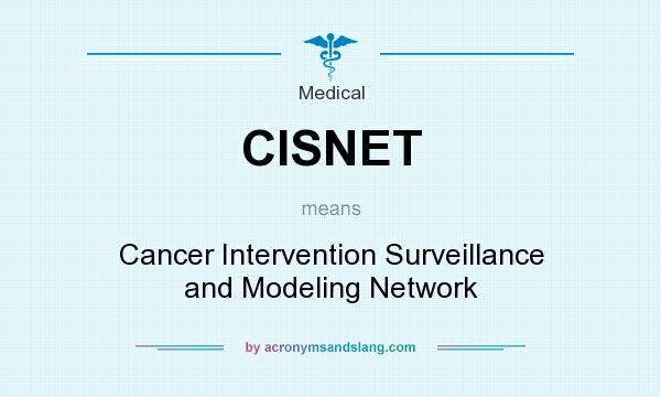 What does CISNET mean? It stands for Cancer Intervention Surveillance and Modeling Network