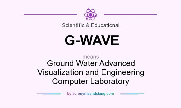 What does G-WAVE mean? It stands for Ground Water Advanced Visualization and Engineering Computer Laboratory