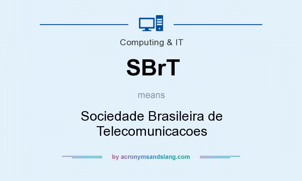 What does SBrT mean? It stands for Sociedade Brasileira de Telecomunicacoes