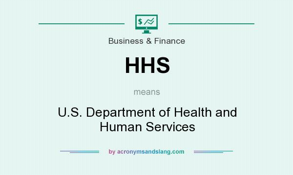 What does HHS mean? It stands for U.S. Department of Health and Human Services