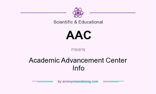 What does AAC mean? It stands for Academic Advancement Center Info