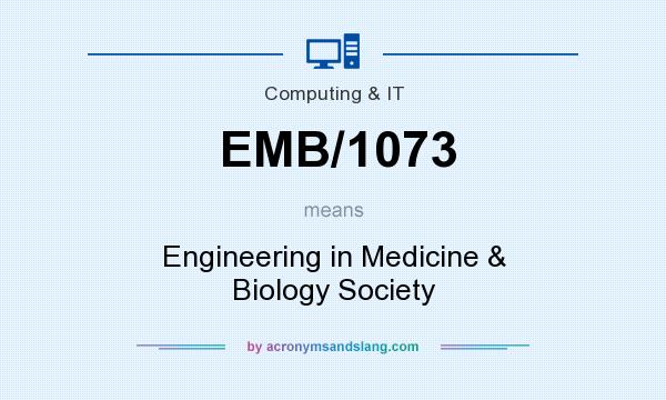 What does EMB/1073 mean? It stands for Engineering in Medicine & Biology Society
