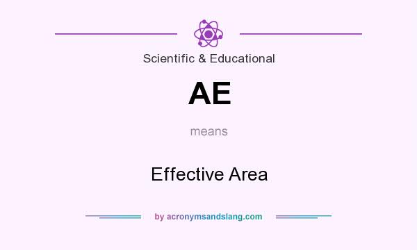 What does AE mean? It stands for Effective Area