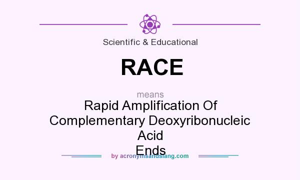 What does RACE mean? It stands for Rapid Amplification Of Complementary Deoxyribonucleic Acid Ends