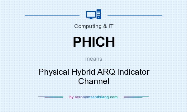 What does PHICH mean? It stands for Physical Hybrid ARQ Indicator Channel