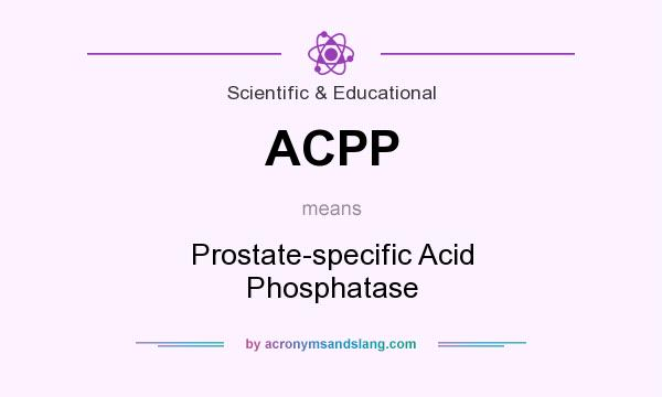 What does ACPP mean? It stands for Prostate-specific Acid Phosphatase