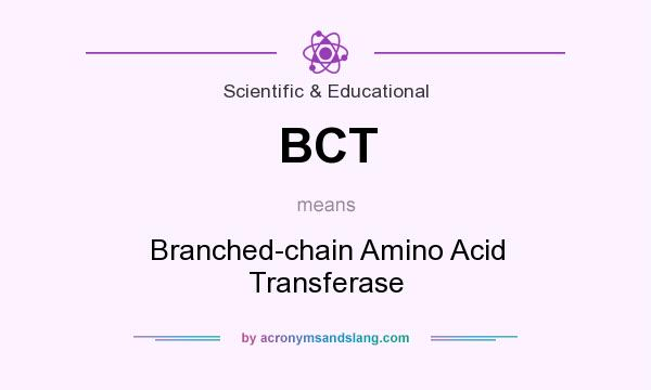 What does BCT mean? It stands for Branched-chain Amino Acid Transferase