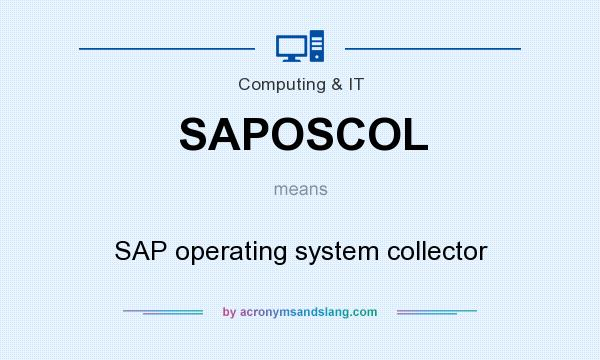 What does SAPOSCOL mean? It stands for SAP operating system collector