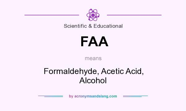 What does FAA mean? It stands for Formaldehyde, Acetic Acid, Alcohol
