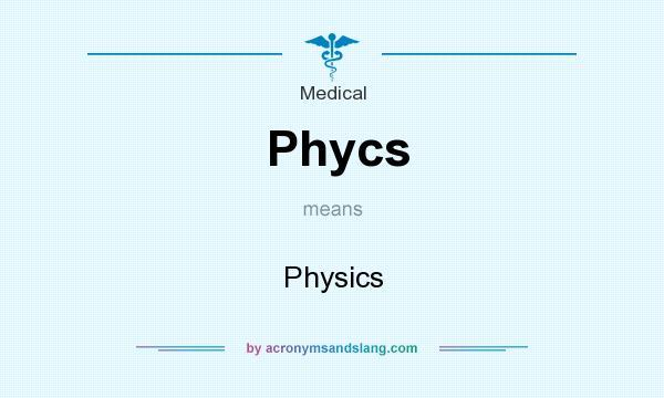 Physics abbreviation