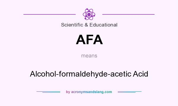 What does AFA mean? It stands for Alcohol-formaldehyde-acetic Acid