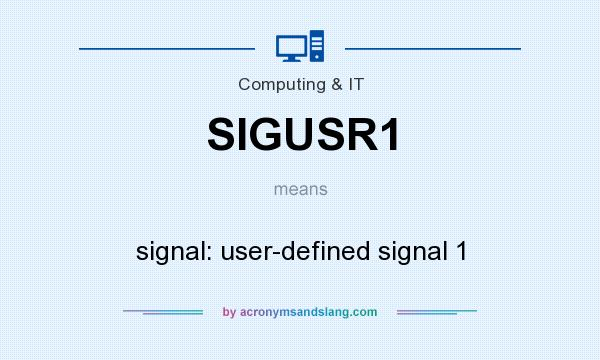 What does SIGUSR1 mean? It stands for signal: user-defined signal 1