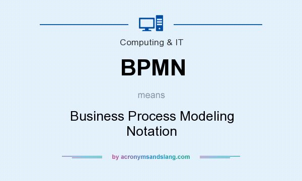 What does BPMN mean? It stands for Business Process Modeling Notation
