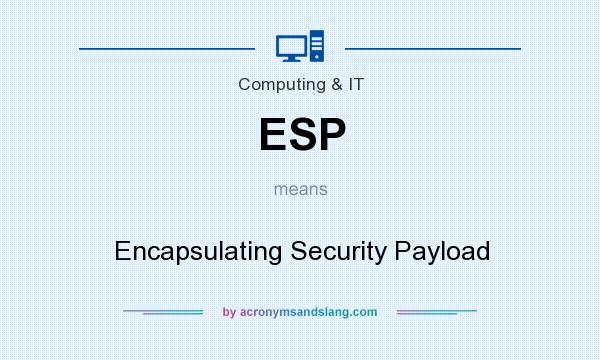 What does ESP mean? It stands for Encapsulating Security Payload