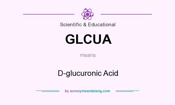 What does GLCUA mean? It stands for D-glucuronic Acid