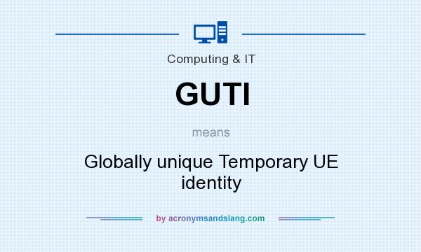 What does GUTI mean? It stands for Globally unique Temporary UE identity
