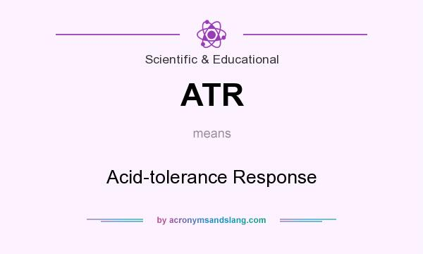 What does ATR mean? It stands for Acid-tolerance Response