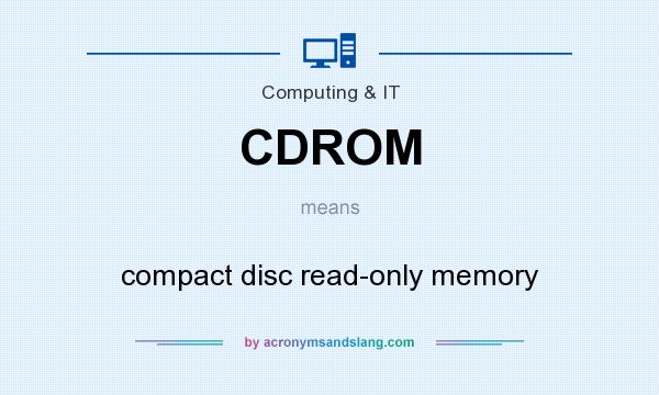What does CDROM mean? It stands for compact disc read-only memory