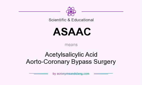 What does ASAAC mean? It stands for Acetylsalicylic Acid Aorto-Coronary Bypass Surgery