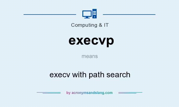 What does execvp mean? It stands for execv with path search