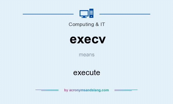 What does execv mean? It stands for execute