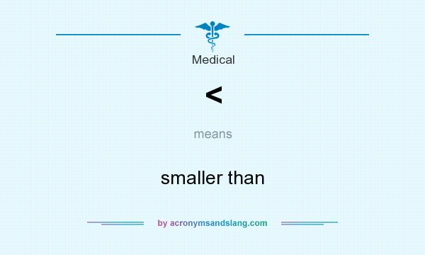 What does < mean? It stands for smaller than