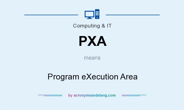 What does PXA mean? It stands for Program eXecution Area