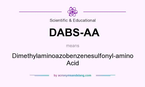 What does DABS-AA mean? It stands for Dimethylaminoazobenzenesulfonyl-amino Acid