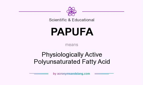 What does PAPUFA mean? It stands for Physiologically Active Polyunsaturated Fatty Acid